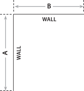 Corner Window measurements.