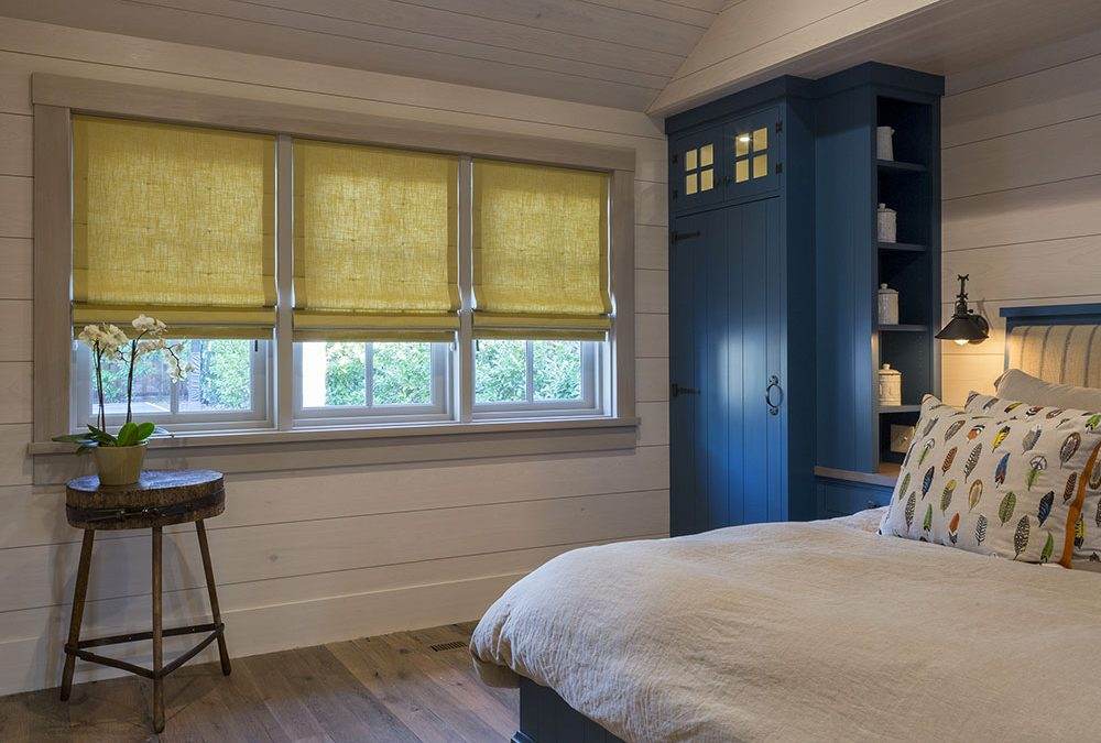 Tailored Roman Shades for a Masculine Room