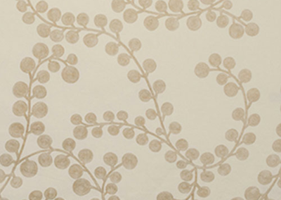 Clustered Blossoms Gold/Creme